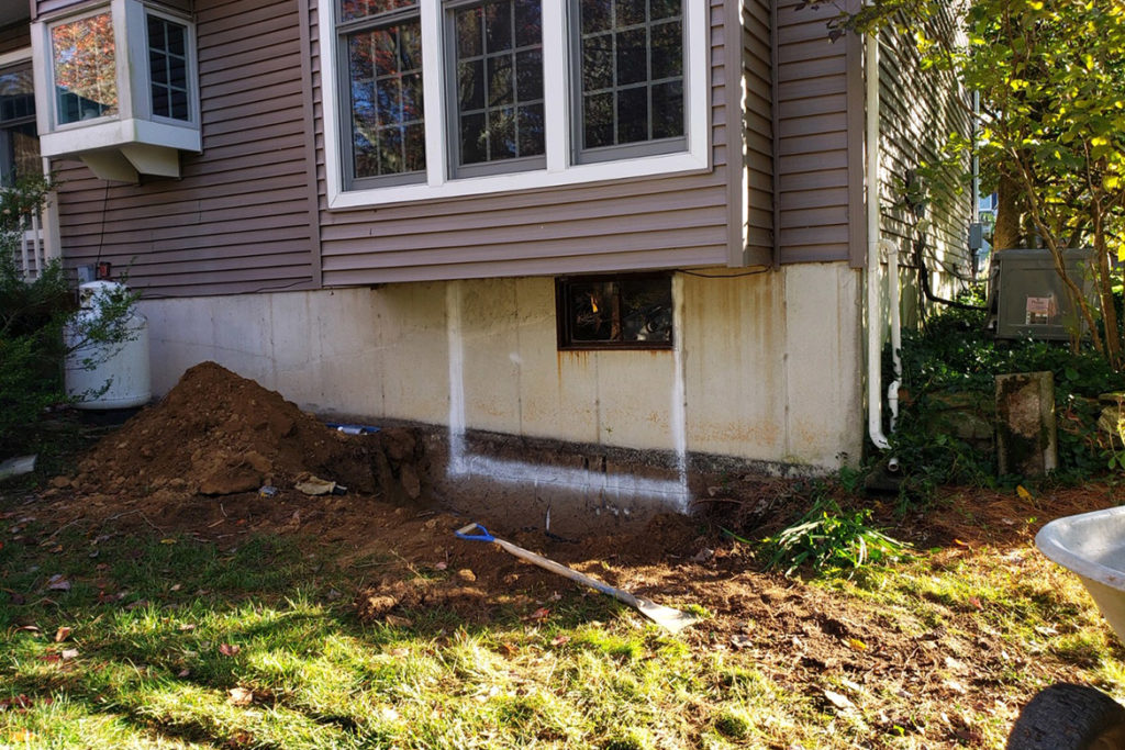 In process to install a 5 foot wide, egress compliant, slider window under a box bay window in WOODSTOCK LANE, WEST CHESTER, PA