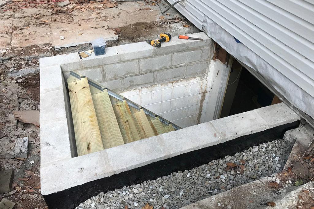 Construction of egress