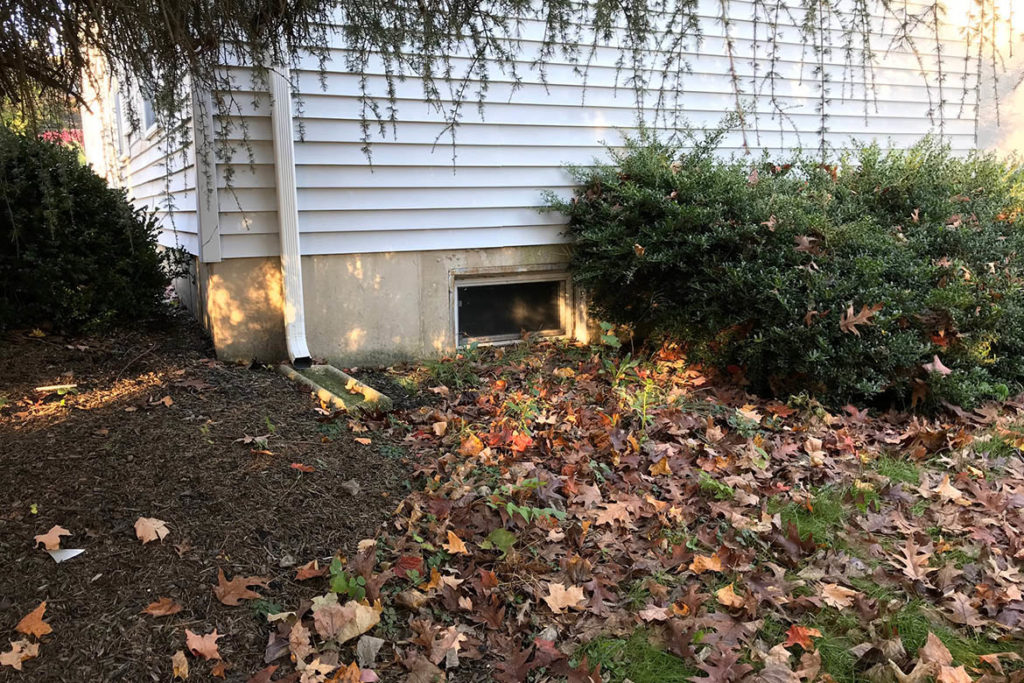 Before installation of a Wellcraft model 5600 egress well with a Wellcraft polycarbonate cover; and a JeldWen, egress compliant, 30″ x 48″ casement window in JOHNATHAN DRIVE, PHOENIXVILLE