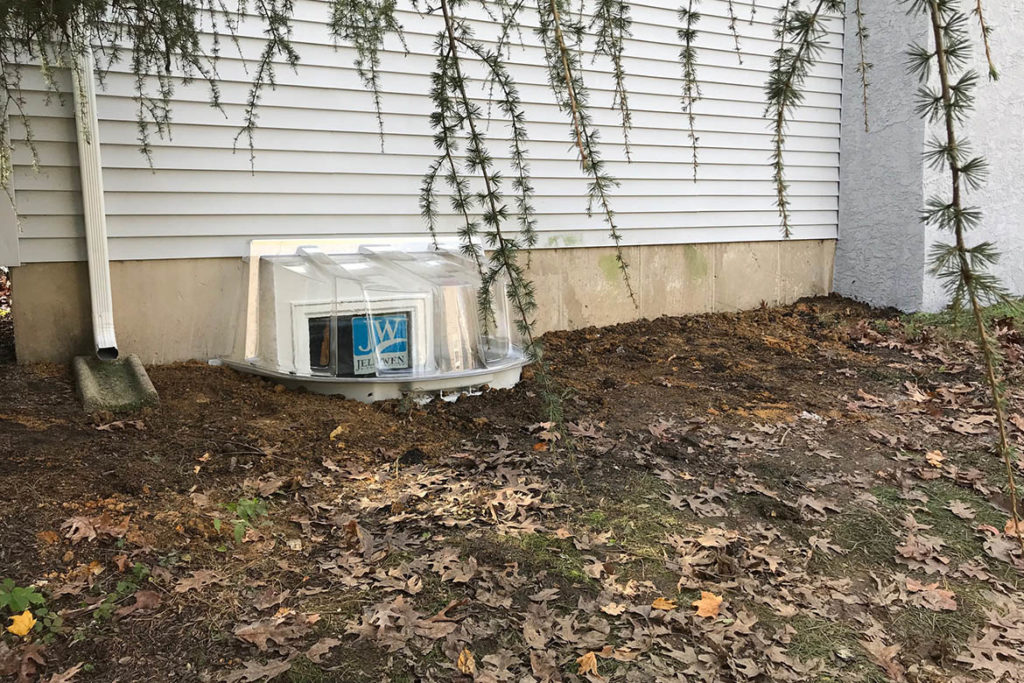 After installation of a Wellcraft model 5600 egress well with a Wellcraft polycarbonate cover; and a JeldWen, egress compliant, 30″ x 48″ casement window in JOHNATHAN DRIVE, PHOENIXVILLE