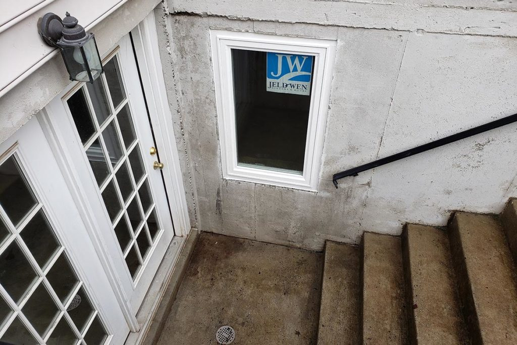 After installation of a 29″ x 48″, egress compliant, casement window in an existing basement walk out in PAGE LANE, PHOENIXVILLE