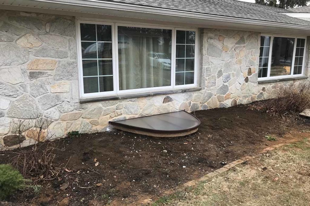 After installation of a Rockwell Elite egress well, a Rockwell polycarbonate cover, and a Pella egress compliant horizontal slider window in NORWOOD ROAD, WEST CHESTER