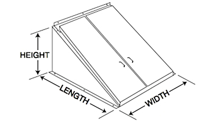 Bilco door dimensions for width, height, and length